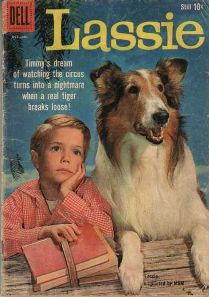 Lassie 47 - Dell - Mgm - Books - Bench - Red Checkered Shirt