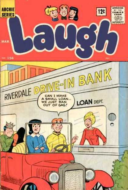 Laugh Comics 156 - Archie - Veronica - Jughead - Jalopy - Bank