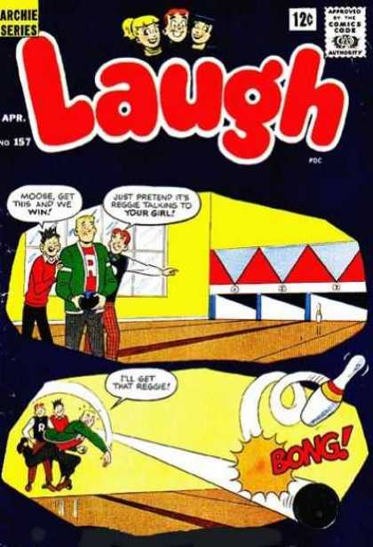 Laugh Comics 157 - Reggie - Number 157 - Moose - Archie Series - Bowling Alley