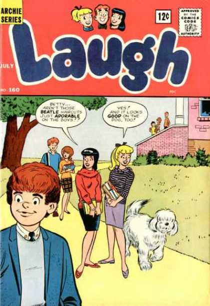 Laugh Comics 160 - Archie Series - July - Dog - Adorable - Beatle