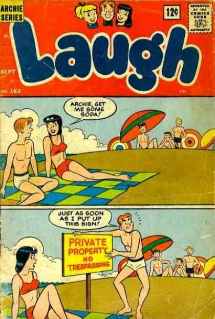 Laugh Comics 162 - Archie - Archie Comics - Laugh - Beach - Soda