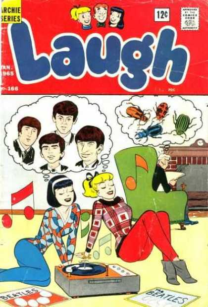 Laugh Comics 166 - Chair - Lp - Beatles - Beetles - Fireplace