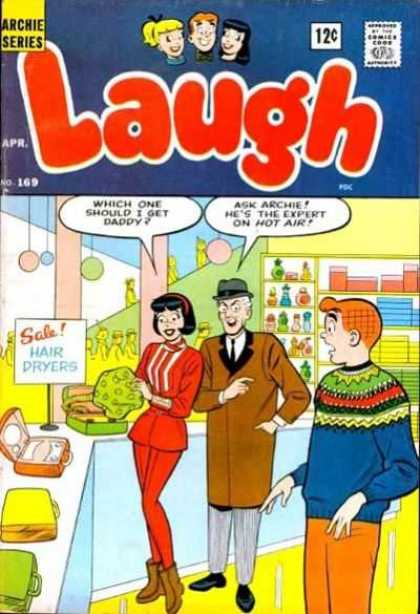 Laugh Comics 169 - Archie - Veronica - Shopping - Daddy - Hair Dryers