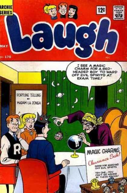 Laugh Comics 170 - Archie - Veronica - Fortune Teller - Crystal Ball - Magic Charms