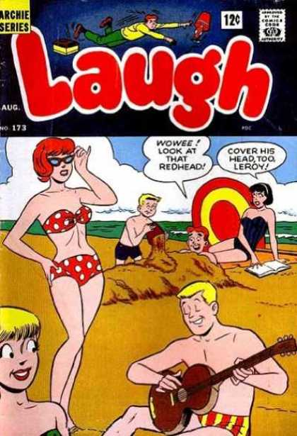 Laugh Comics 173 - Archie Series - Approved By The Comics Code - Lamp - Woman - Sand