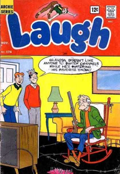 Laugh Comics 176 - Archie Series - Approved By The Comics Code - Oldman - Rifle - Tv-set