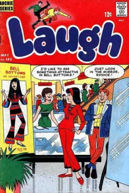 Laugh Comics 182 - Approved By The Comics Code - Man - Archie Series - Woman - Mirror