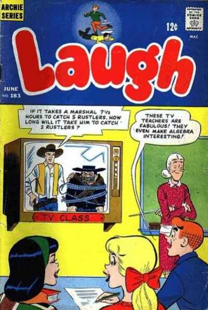 Laugh Comics 183 - Archie - Tv - Teacher - June - No 183