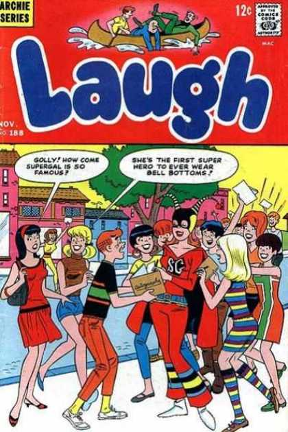Laugh Comics 188 - Tree - Girls U0026 Boys - Boat - Archie Series - Supergirl