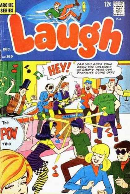 Laugh Comics 189 - Archie - Band - Drums - Dancing - Dynamite