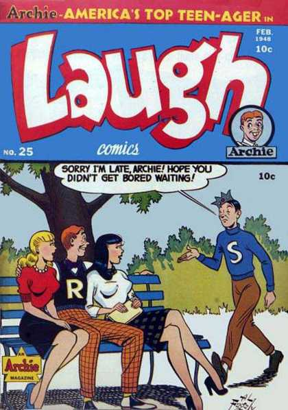 Laugh Comics 25 - Archie - February - 10 Cents - Jughead - Veronica