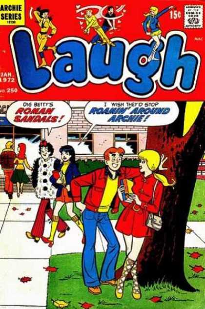 Laugh Comics 250 - Archie - Betty - January - Roman Sandals - Veronica