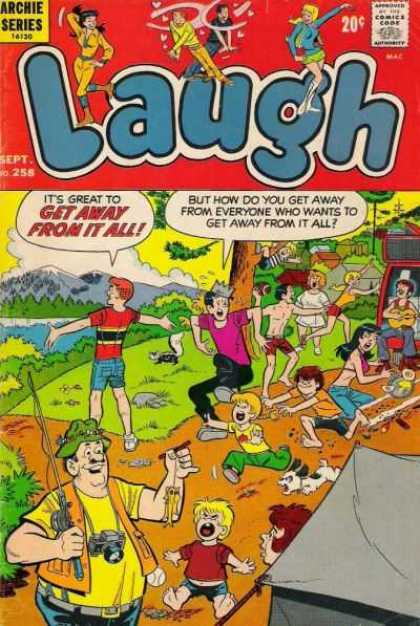 Laugh Comics 258 - Archie - Fishing - Veronica - Jughead - Camping