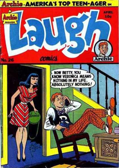 Laugh Comics 26 - Archie - Americas Top Teen-ager - Veronica - Telephone - Speech Bubble