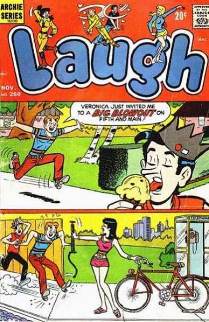 Laugh Comics 260 - Jughead - Ice Cream Cone - Teens - Bike - Phone Booth