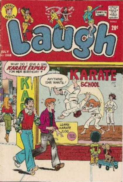Laugh Comics 268 - Karate - Joke - Dojo - Judo - Sidewalk
