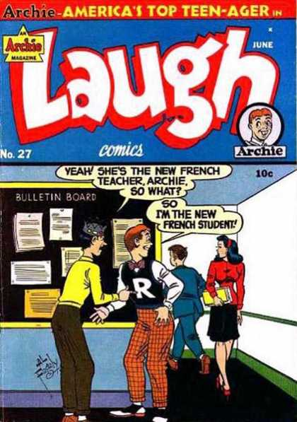 Laugh Comics 27 - French Teacher - Archie - Jughead - French Student - New Teacher