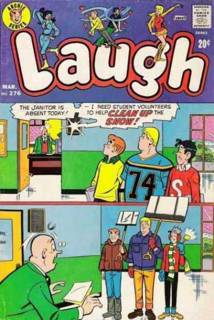 Laugh Comics 276 - Archie - Shovel - Scarf - Telephone - Jughead