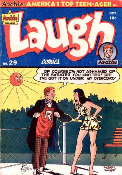 Laugh Comics 29 - Archie - Americas Top Teen-ager - Oct - Tree - Overcoat