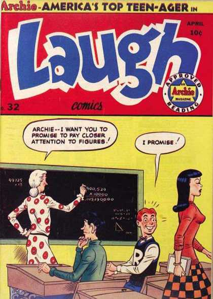 Laugh Comics 32 - Archie - No 32 - April - Chalkboard - Classroom