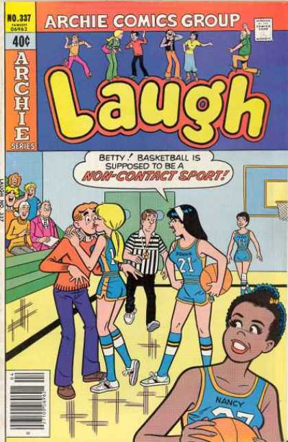 Laugh Comics 337 - Archie Comics Group - No 337 - Basketball Is Supposed To Be A Non-contact Sport - Veronica - Betty