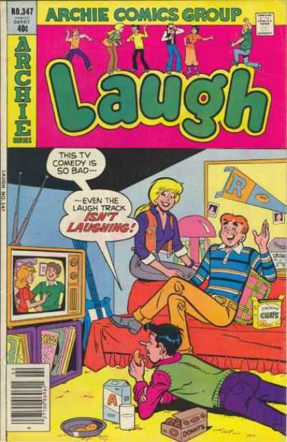 Laugh Comics 347 - Archie Comics Group - Television - Biscuit - Night Lamp - Water