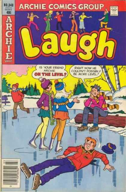 Laugh Comics 348 - Skates - Ice Rink - Sweaters - Snow - Scarves