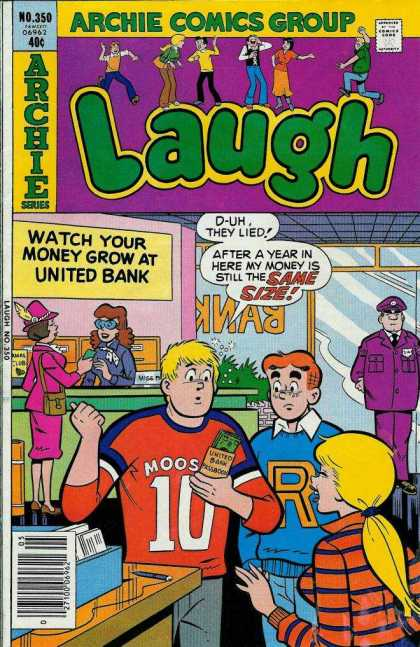 Laugh Comics 350 - Archie - United - Bank - Money - Size