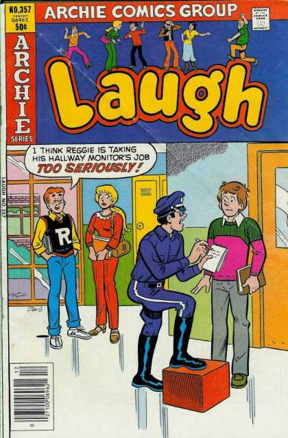 Laugh Comics 357 - Betty - Reggie - Police - Seriously - Monitor