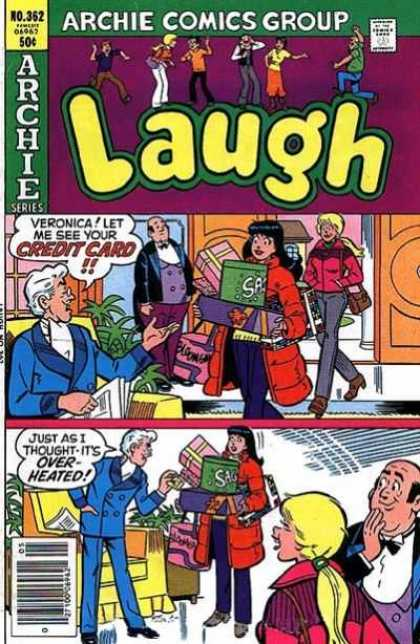 Laugh Comics 362 - Betty And Veronica - Butler - Shopping - Credit Card - Father