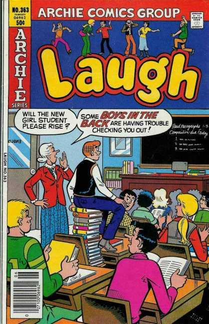 Laugh Comics 363 - Miss Grundy - Archies - Classroom - Blackboard - Moose