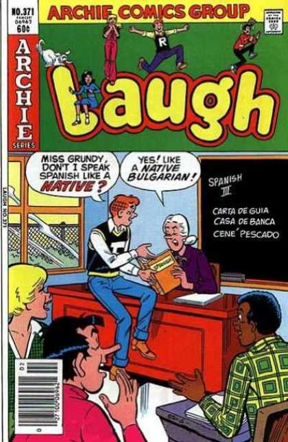 Laugh Comics 371 - Archie - Miss Grundy - Classroom - Spanish - Bulgarian