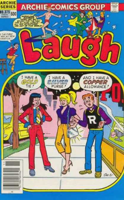 Laugh Comics 375 - Out Of This World - The First To See - Gold Tie - Silver Purse - I Have Copper Allowance