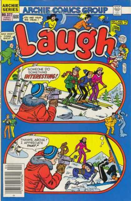 Laugh Comics 377 - Veronica - Jughead - Video Camera - Skis - Snow