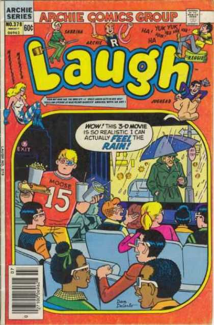 Laugh Comics 378 - Archie Series - Comics Code - Cine - Boys - Girls