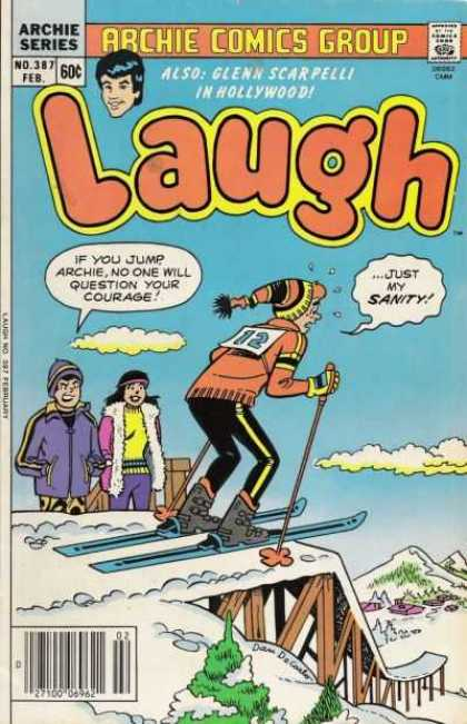 Laugh Comics 387 - Archie - February - Speech Bubbles - Skis - Clouds