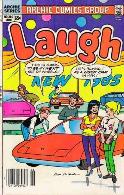 Laugh Comics 389 - Approved By The Comics Code Authority - Archie Series - No389 - June - Car