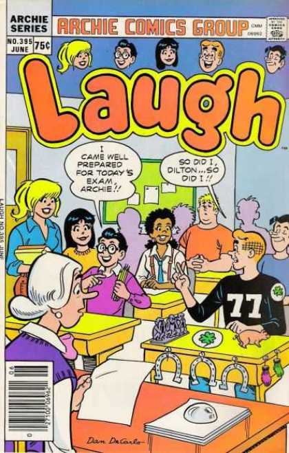 Laugh Comics 395 - Archie Series - 75 Cents - No 395 - June - Classroom