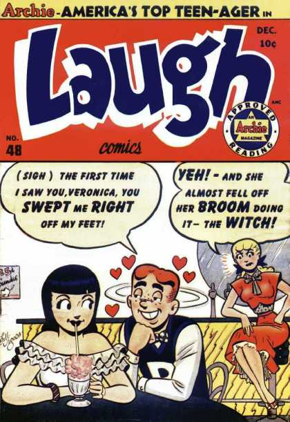 Laugh Comics 48 - Archie Andrews - Veronica Lodge - Betty Cooper - Malt Shop - Teen-ager