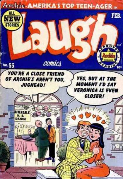 Laugh Comics 55 - Archie - Dance - High School - Love - Bench