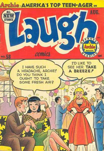 Laugh Comics 58 - Archie - Teen Comics - Archie And Gang - Archie Magazines - Archie And Friends