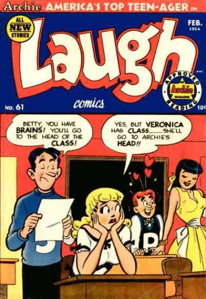 Laugh Comics 61 - Archie Americas Top Teen-ager - All New Stories - No 61 - Betty You Have Brains - Veronica Has Class