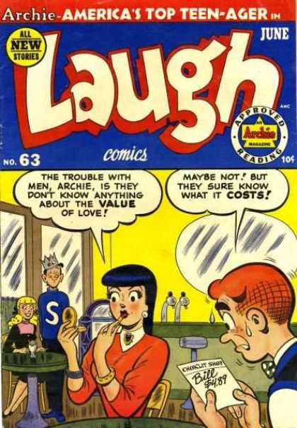 Laugh Comics 63 - Archie - Veronica - Jughead - Tables - Soda Fountain