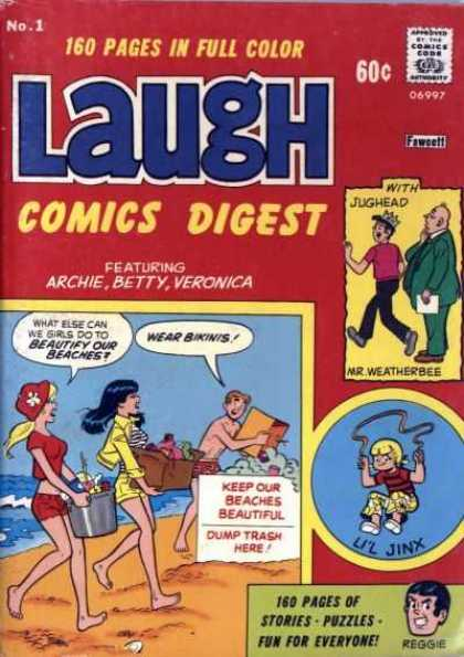 Laugh Digest 1 - 160 Pages In Full Cover - Approved By The Comics Code Authority - Sea - Archie - Betty