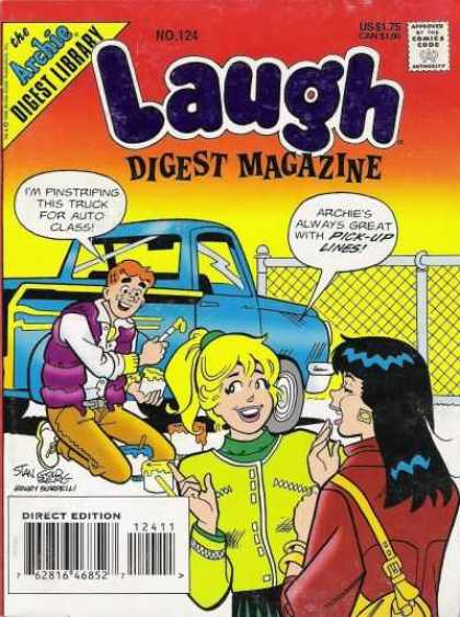 Laugh Digest 124 - Magazine - Archie - Veronica - Betty - Pick-up