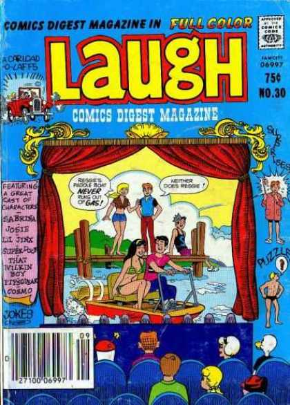 Laugh Digest 30 - Archie - Water - Dock - Paddle Boat - Bikini
