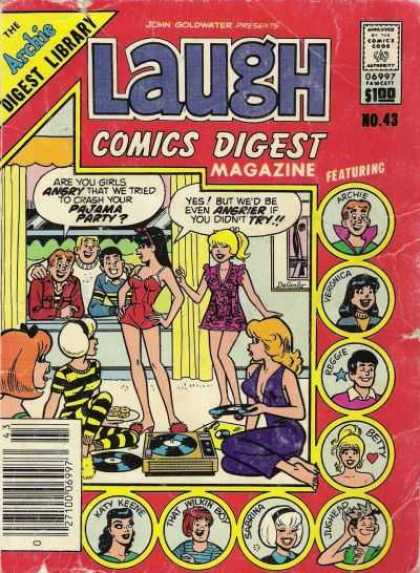 Laugh Digest 43 - Archie - Veronica - Reggie - Betty - Jughead