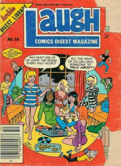 Laugh Digest 50 - Archie - Speech Bubble - Betty - Blonde - Window