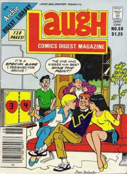 Laugh Digest 58 - Laugh Digest - Archie - Betty And Veronica - Smootching - Dilton Invention