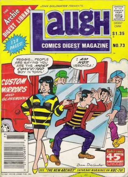 Laugh Digest 73 - Archie - John Goldwater - Custom Mirrors - Comb - Veronica